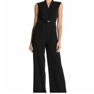 Nwt Calvin Klein black tuxedo stripe jumpsuit 8